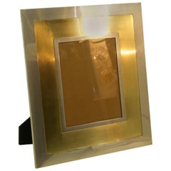 Large Picture Frame in Brass and Steel