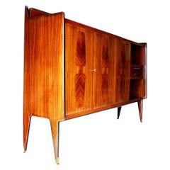 Large Piece of Furniture in Indian Rosewood and Sycamore, 1960s, Italy