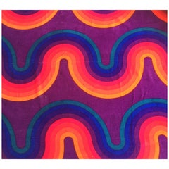 Large Piece of Unused 'Small Wave' Fabric by Verner Panton for Mira-X  A.G
