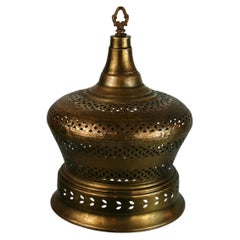 Large Pierced Brass Pendant