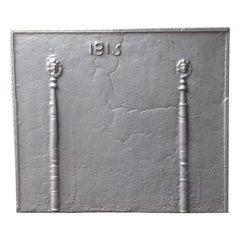 Large 'Pillars with Phrygian Cap' Fireback, 19th Century