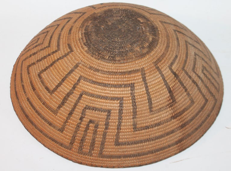 American 19th Century Pima Indian Large Basket For Sale