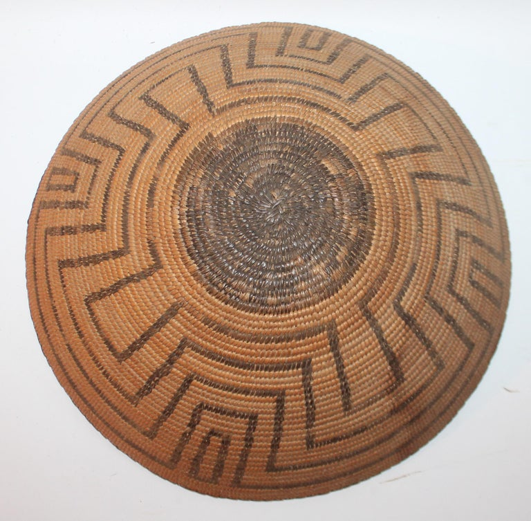 Hand-Crafted 19th Century Pima Indian Large Basket For Sale