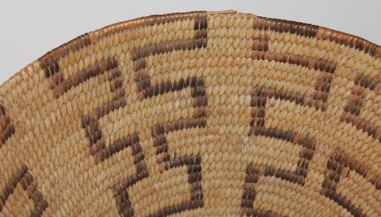 Adirondack Large Pima Geometric Indian Basket For Sale