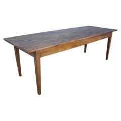 Large Pine Farm Table, Oak Base