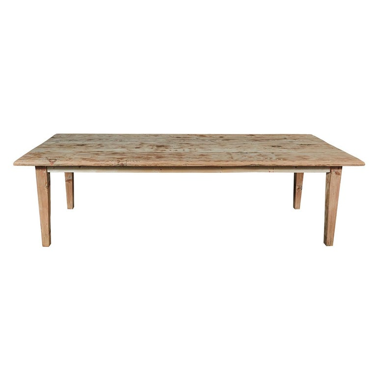 Rustic Kitchen Tables For Sale: Large Pine Rustic Dining Table For Sale At 1stdibs