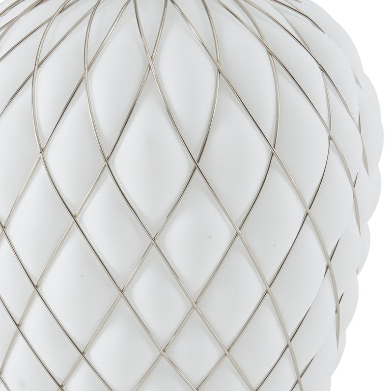 Large 'Pinecone' Table Lamp in Translucent Glass & Gold Metal for Fontana Arte For Sale 6