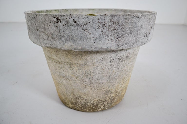 Swiss Large Planter in the Shape of Flower Pot by Willy Guhl for Eternit For Sale