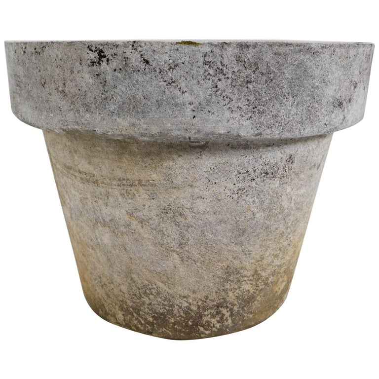 Large Planter in the Shape of Flower Pot by Willy Guhl for Eternit For Sale