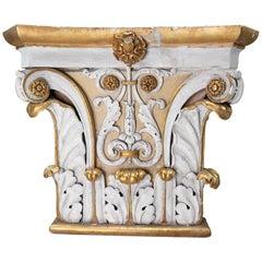 Large Plaster Architectural Ionic Capital Element, Austria, 1880