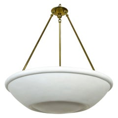 Large Plaster Bowl Uplight Pendant