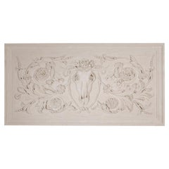 Large Plaster Panel with Ox Skull Detail