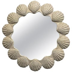 Large Plaster Shell Form Mirror