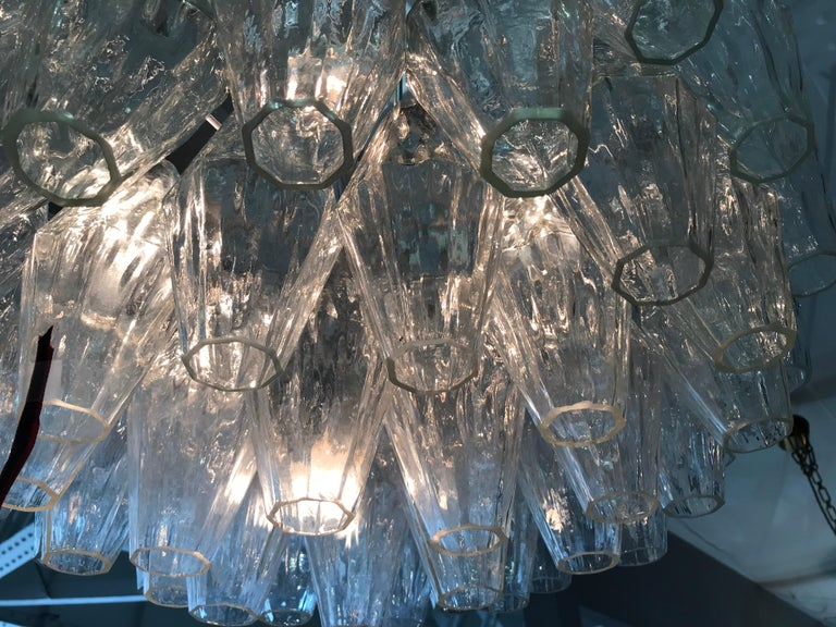Large Poliedri Chandelier by Carlo Scarpa for Venini In Excellent Condition In London, GB