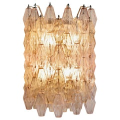 Large Poliedri Glass Wall Sconce by Produced by Venini, 1960's