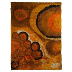 Large Pop Art Nordpfeil Shag Carpet, 1960s