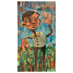 Large Pop Art Postmodern Still Life of Boy