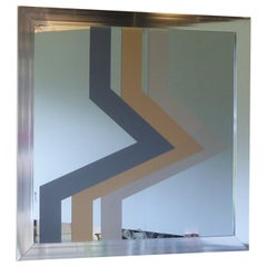 Large Pop Op Mirror with Graphic Design by Expressions 1975