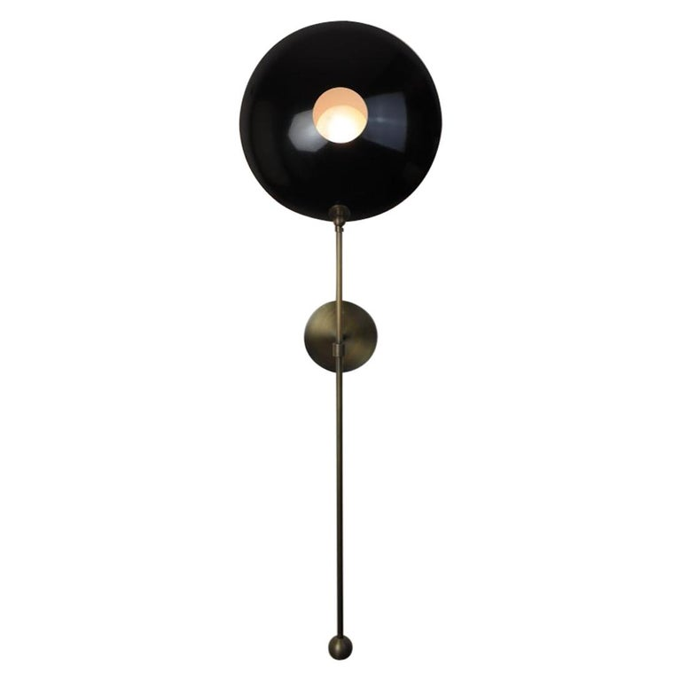 """Large """"POP"""" Wall Sconce in Bronze and Black Enamel by Blueprint Lighting For Sale"""