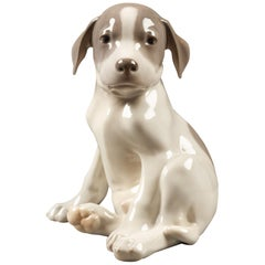 Large Porcelain Puppy 1452/259 by Erik Nielsen for Royal Copenhagen, 1952