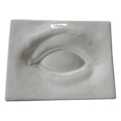 Large Porcelain Trompe-L'Oeil Eye Decorative Dish/Tray