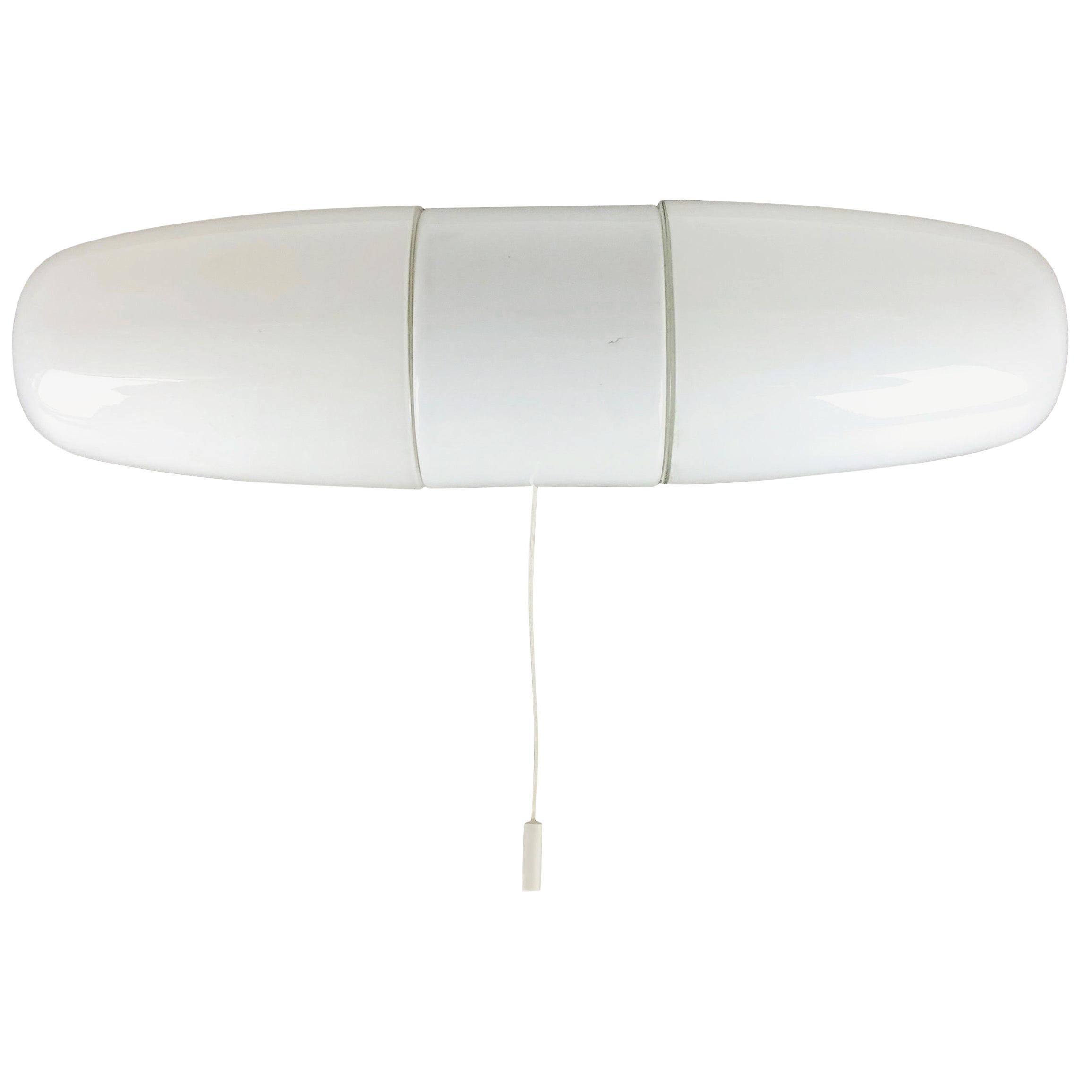 """Large Porcelain Wall Light """"6078"""" by Wilhelm Wagenfeld, Lindner Germany, 1950"""
