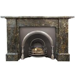 Large Portoro Marble Fireplace Mantel