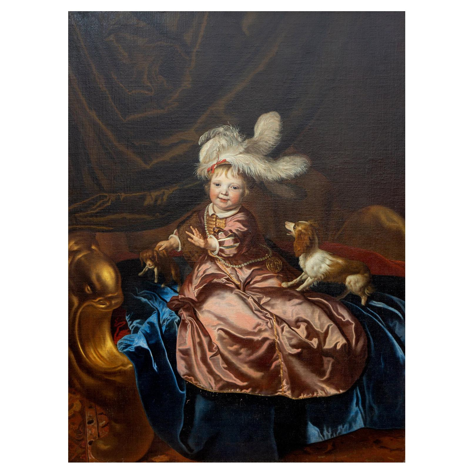 Large Portrait of a Boy, Jacob van Loo '1614-1670', Dutch Master Painting