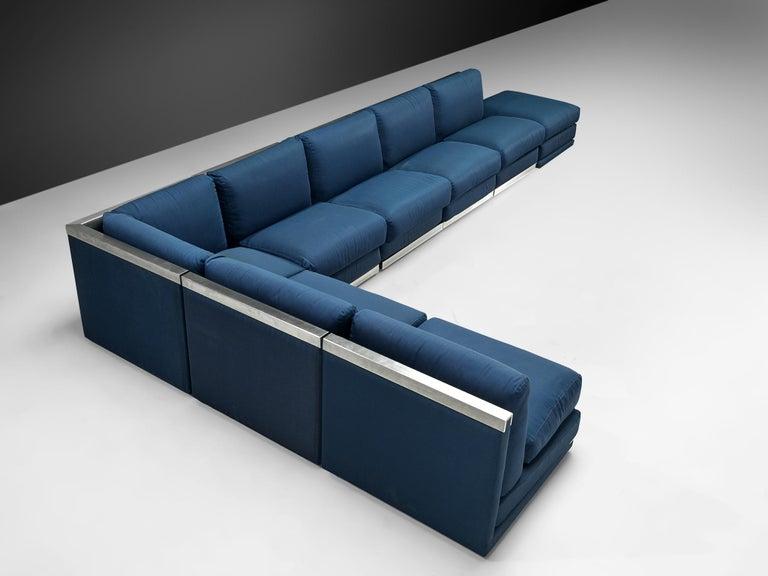 Italian Large Postmodern Sectional Sofa For Sale