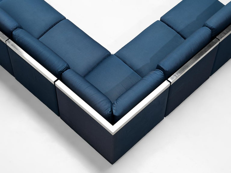 Late 20th Century Large Postmodern Sectional Sofa For Sale