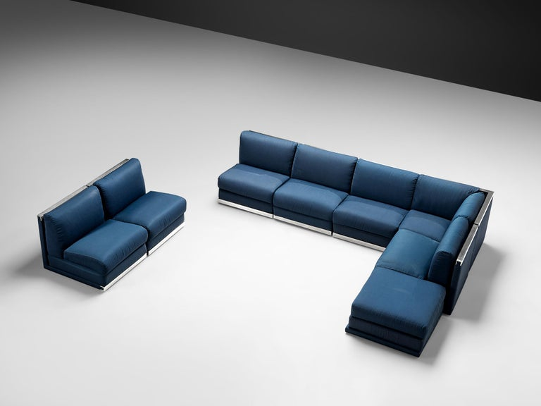 Aluminum Large Postmodern Sectional Sofa For Sale