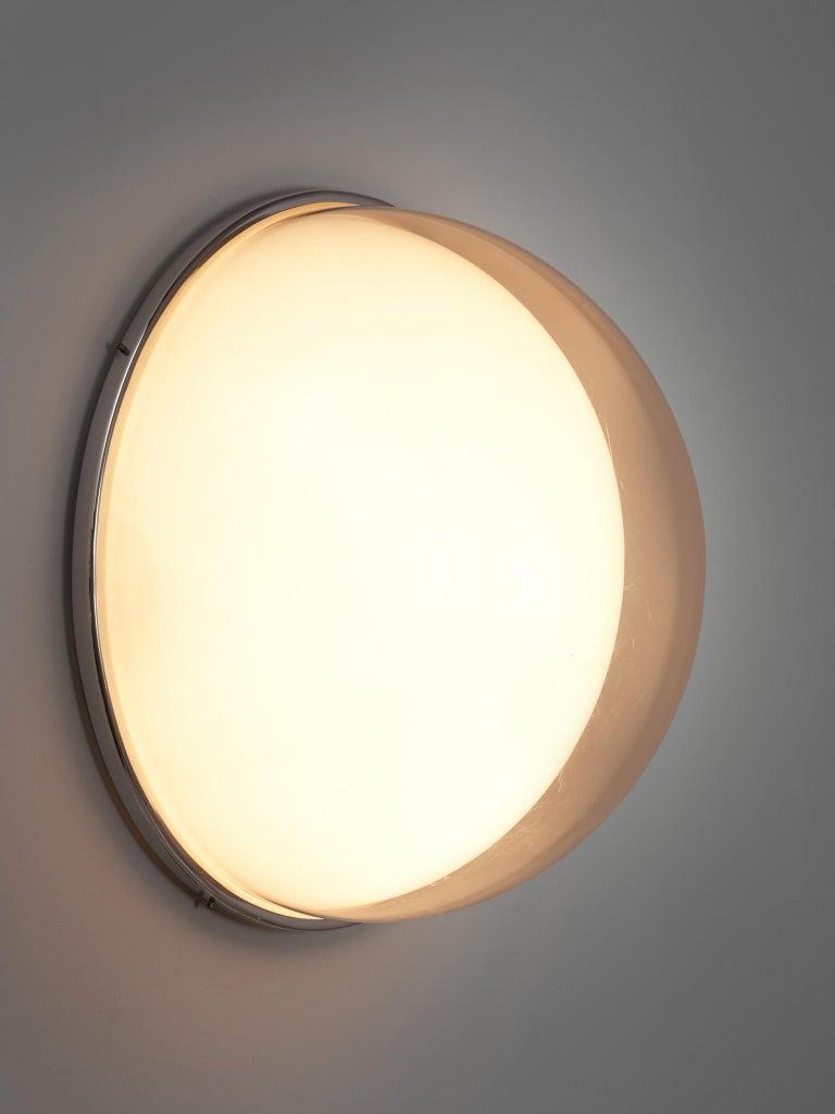Mid-Century Modern Large Postmodern Semicircular Wall Lamp For Sale
