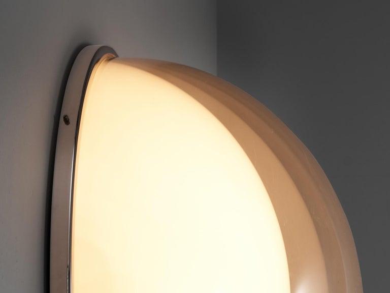 Italian Large Postmodern Semicircular Wall Lamp For Sale