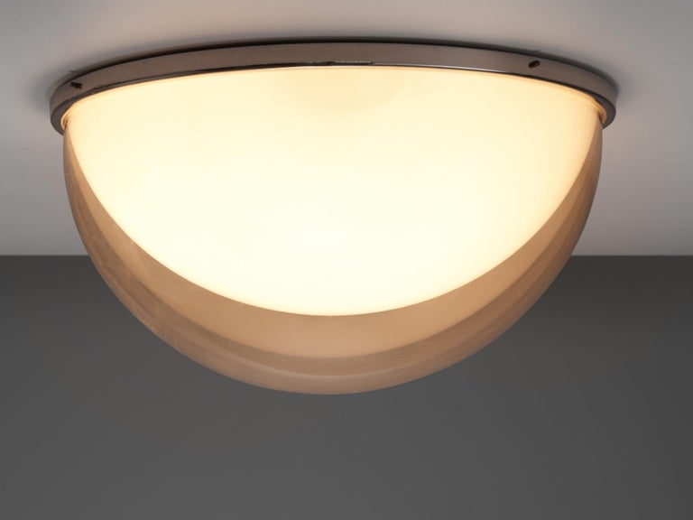 Mid-20th Century Large Postmodern Semicircular Wall Lamp For Sale