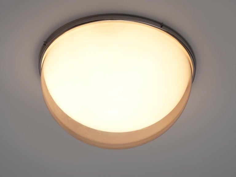 Metal Large Postmodern Semicircular Wall Lamp For Sale