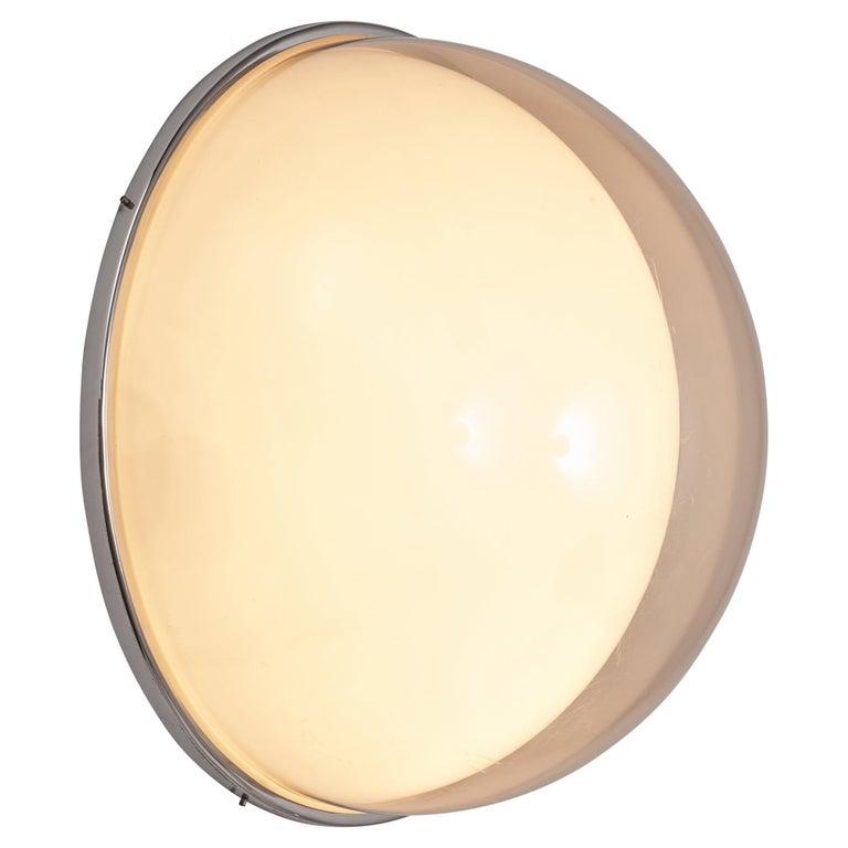 Large Postmodern Semicircular Wall Lamp For Sale