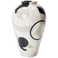 Large Postmodern Tessellated et Cetera Mango Jar Floor Vase, 1990s