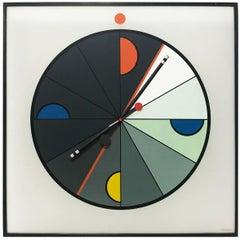 Large Postmodern Wall Clock Morphos Kloks, Kurt B. Delbanco, Acerbis Italy 1980s