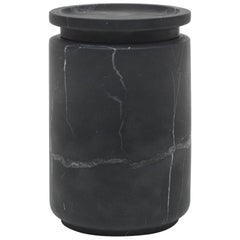 Large Pot in Black Marquinia Marble by Ivan Colominas, Italy in Stock