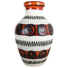 Large Pottery Fat Lava Multi-Color Floor Vase Made by Scheurich, 1970s