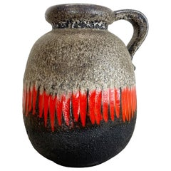 Large Pottery Fat Lava Multi-Color 484 Floor Vase Made by Scheurich, 1970s