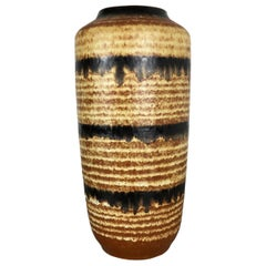 Large Pottery Fat Lava Multi-Color 517-45 Floor Vase Made by Scheurich, 1970s
