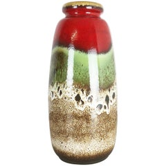 Large Pottery Fat Lava Multicolor 284-47 Vase Made by Scheurich, 1970s