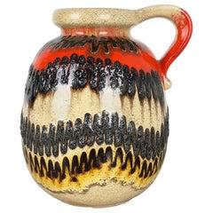 Large Pottery Super Color Fat Lava Multi-Color 484-30 Vase Scheurich WGP, 1970s