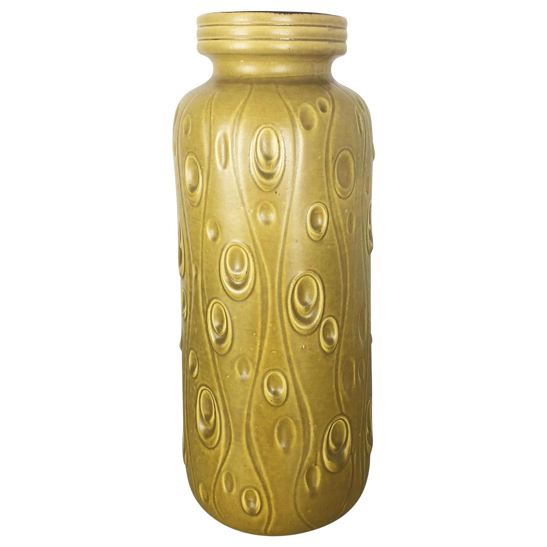 Large Pottery Super Fat Lava Multi-Color 288-51 Vase Scheurich WGP, 1970s