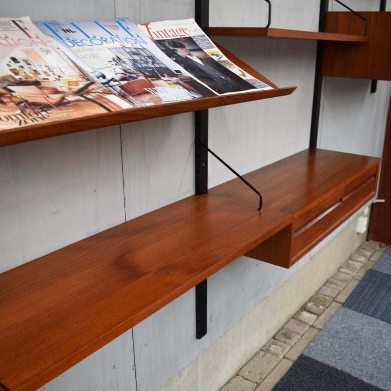 Large Poul Cadovius Royal Wall Unit in Teak, Denmark, 1950s For Sale 7