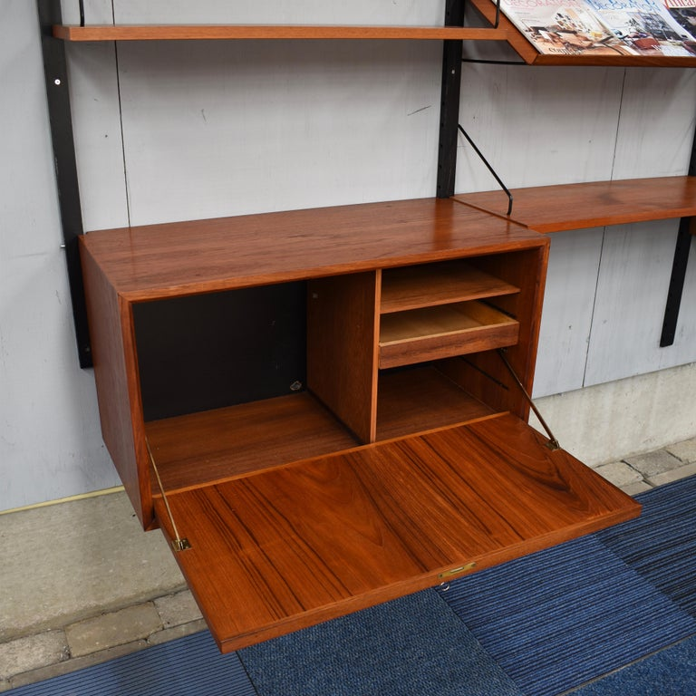 Large Poul Cadovius Royal Wall Unit in Teak, Denmark, 1950s For Sale 8