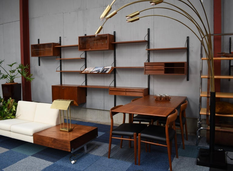 Large Poul Cadovius Royal Wall Unit in Teak, Denmark, 1950s In Good Condition For Sale In Pijnacker, Zuid-Holland