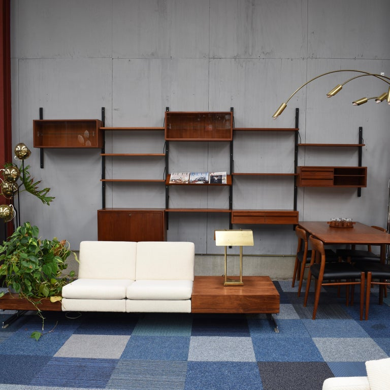 Mid-20th Century Large Poul Cadovius Royal Wall Unit in Teak, Denmark, 1950s For Sale