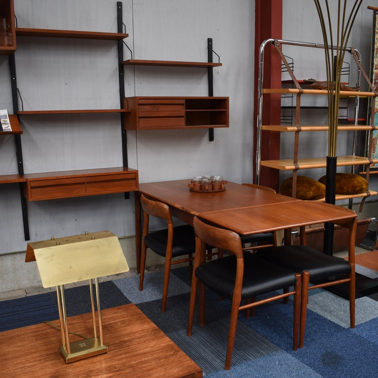 Large Poul Cadovius Royal Wall Unit in Teak, Denmark, 1950s For Sale 1